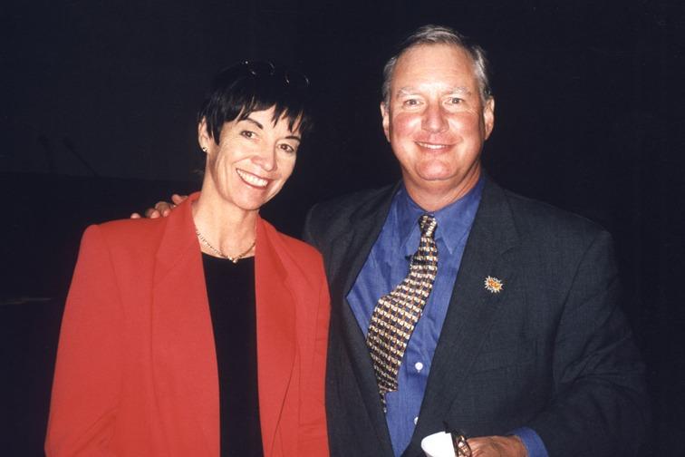 Catherine DeVrye and Tom Peters